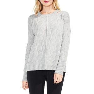 Vince Camuto Keyhole Neck Cable Sweater